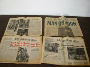 4 Newspapers of Historic Significant. 20$!