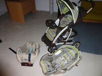 Poussette Graco, inclus (coquille + base) Graco Stroller