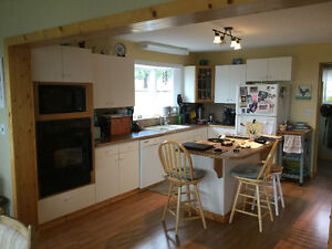 Kitchen Cabinets, Stove top and Oven