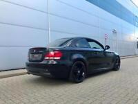 "2009 59 reg BMW 120d M Sport Coupe + Black + LEATHER + 18"" Alloys + Nice Spec"