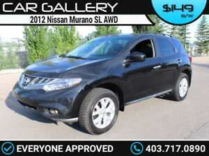 2012 Nissan Murano SL AWD w/Leather, Sunroof, Navi $149B/W YOU'R