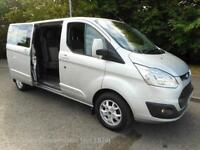 '15 Ford Transit Custom 290 top spec 'Limited' 6 seat double cab, AC, cruise etc