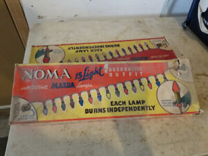 2 sets 50's Noma Christmas lights in box