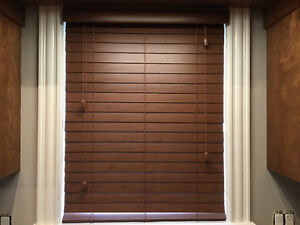 Shade O Matic faux Wood blinds - all same color as in photo