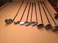 7 Baton de Golf Homme gaucher + 1 baton exercice 25$ chaque