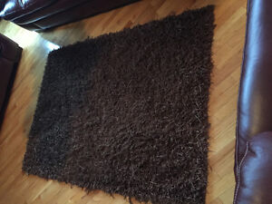 Pier One 4x6 area rug with rug pad