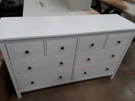 HEMNES Chest of 8 drawers, white stain, IKEA Exeter AS-IS, Was £215 #BargainCorner