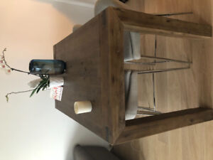 Wood Dining table and Stools for sale!! MUST GO!