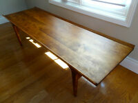 Refinished Maple Coffee Table - Mid Century Modern