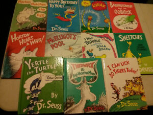 Dr Seuss large style books, lot of 11Horton hears a who, Lorax,