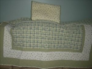 baby quilt with matching pillow sham