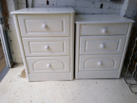 2 X bedside cabinets from Bradbeers