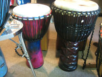 SALE on Djembe Hand Drums at Duncan Music