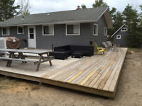 Lake Huron cottage for rent Port Franks with slip  Private beach