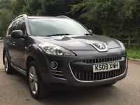 Peugeot 4007 GT fully loaded 7 seater 4x4 satnav Rev camera leather 1 owners