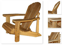 Outdoor Wood Adirondack/Muskoka Chair Kit, or $94 for over 4