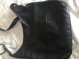 Black Coach Leather Messenger Bag