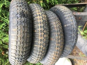 utility wheels and tires  4.80/4.00-8inch  2 ply four of them