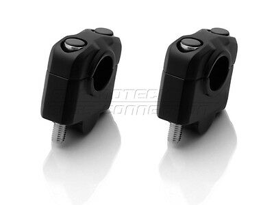 30MM BLACK HANDLEBAR RISERS FOR TRIUMPH WITH 78TH BARS SW MOTECH