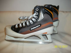 Junior Goalie Skates Size 4 (Bauer Performance) with Super Feet