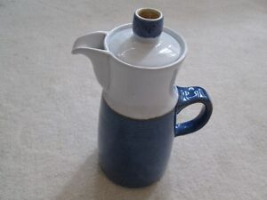 "Denby ""Chatsworth"" Pattern Coffee Pot With Lid"