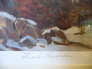 "Iconic Painting by Frank Panabaker ""Winter Storm"" 1957 Signed/Nu Stratford Kitchener Area image 5"