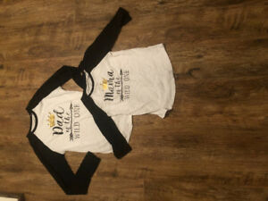 1st birthday parent shirts