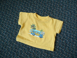 Baby size 0-3 Month Yellow Short Sleeve T-Shirt