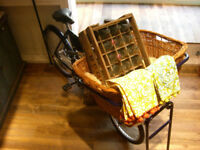 traditional British Pashley cargo bike for rent (events, shops)