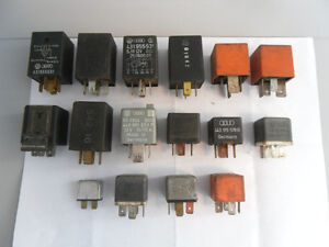 LOT OF 15 VW AUDI RELAYS FOR SALE