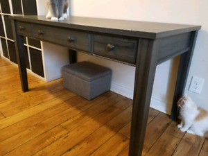 Large Grey Desk with Drawers $150 OBO