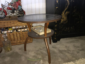 Glass round small table
