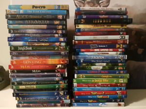 Huge selection of Blu rays and DVDS.  Disney, and Marvel.