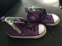 Purple Converse Hightops - Infant Size 7
