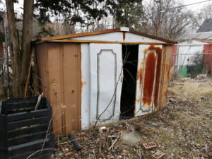 8ft x 6ft approx metal shed