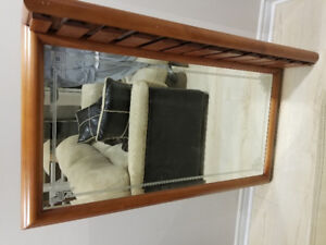Back Bar Mirror with Storage Rack for Glasses