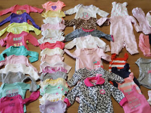Baby girl 0-6m clothing lot