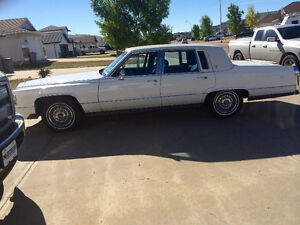 White1990 Cadillac Brouhgam for sale