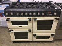 Cream Range Cooker , Hotpoint Cannon dual fuel