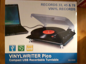 Vinyl Writer recordable turntable
