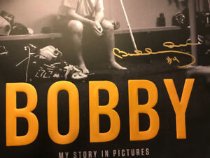 Rare! Bobby Orr signed book (signed on cover)