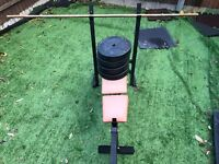 Used Exercise bench with weight (4X10kg)