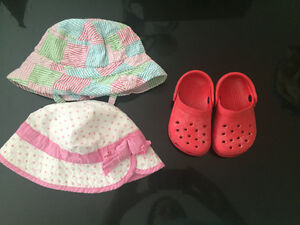 Baby crocs and summer hats