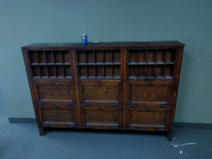 Antique - Oak Pharmacy Cabinet