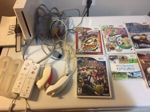 Nintendo wii, controllers, games