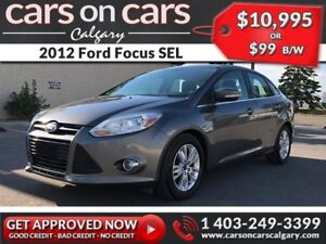 2012 Ford Focus SEL $99 B/W INSTANT APPROVAL, DRIVE HOME TODAY!