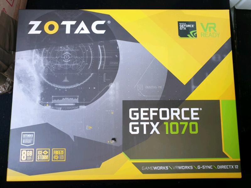 ZOTAC GEFORCE GTX 1070 DDR-5 8GB BRAND NEW SEALED   in Manchester   Gumtree