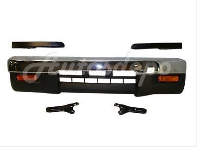 (Bundle for 95-97 Tacoma 4Wd Front Bumper Chr Bar Valance Filler Signal Light 8P)