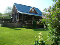Beautiful 1870s Log Homestead on Acreage