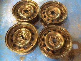 4X BMW Steel wheels